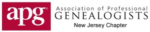 NJ CHAPTER of the Association of Professional Genealogists
